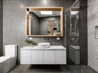 A Bathroom Upgrade with Glass and Mirror