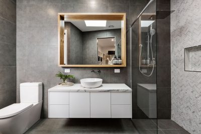 Read more about the article A Bathroom Upgrade with Glass and Mirror